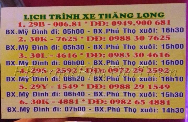 Xe khách Thăng Long