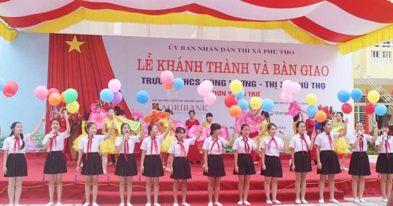 Lễ khánh thành trường THCS Hùng Vương thị xã Phú Thọ