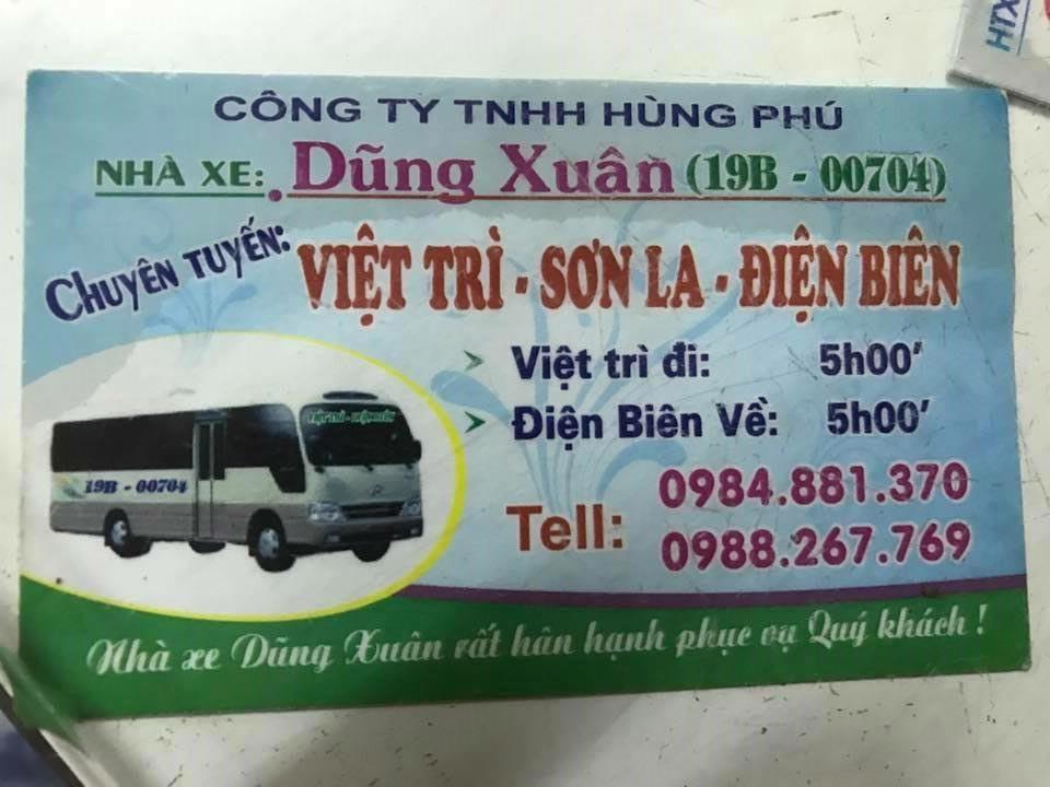 Nhà xe Dũng Xuân (Việt Trì - Sơn La - Điện Biên)