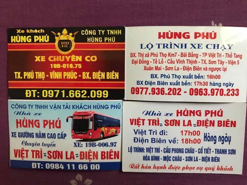 Nhà xe Hùng Phú (Phú Thọ - Sơn La - Điện Biên)