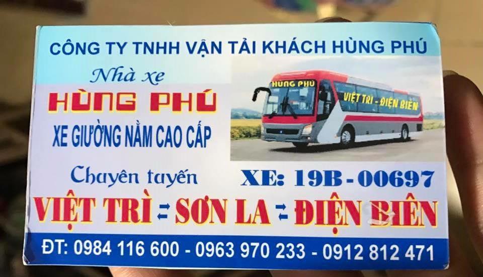Nhà xe Hùng Phú (Việt Trì - Sơn La - Điện Biên)