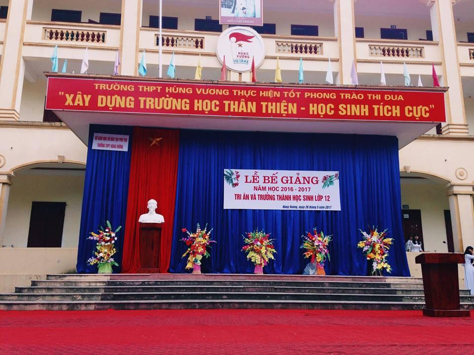 THPT Hùng Vương bế giảng năm học 2016 - 2017