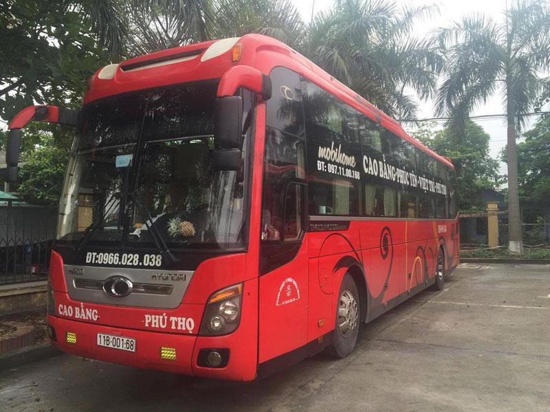 Xe khách Phú Thọ - Cao Bằng