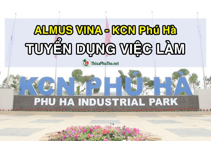 Almus Viva - Khu công nghiệp Phú Hà tuyển dụng việc làm