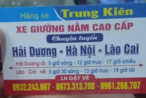 Xe Lào Cai đi Hải Dương đường cao tốc