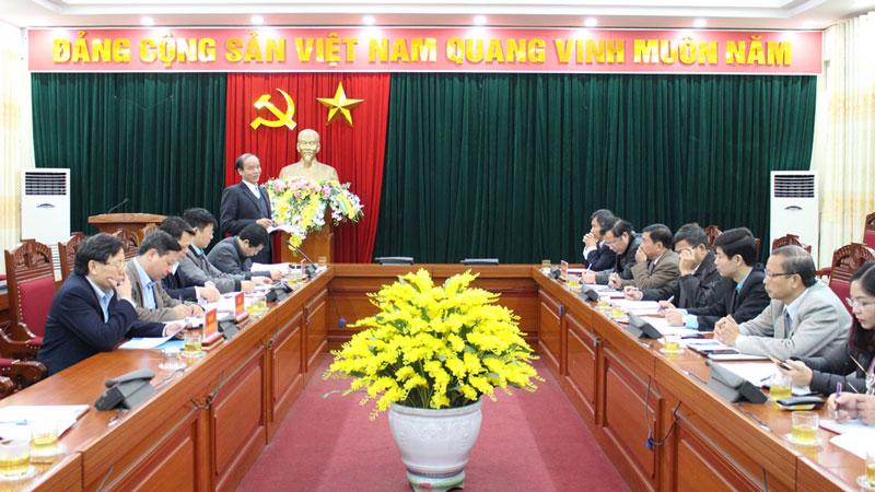 Ban nội chính trung ương làm việc tại thị xã Phú Thọ