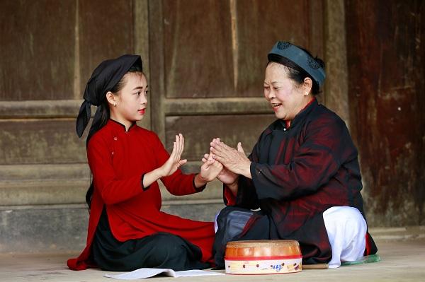 Nghệ nhân hát xoan Nguyễn Thị Lịch