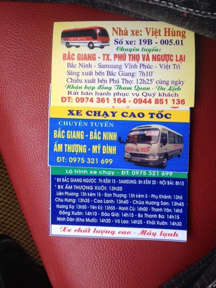 Nhà xe Phượng Tiến (Ấm Thượng - Thanh ba - Bắc Ninh - Bắc Giang)