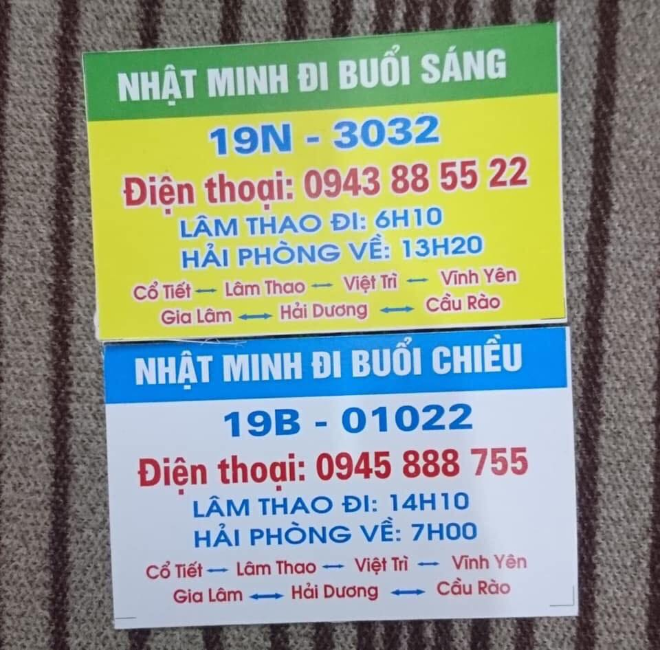 Nhà xe Nhật Minh (Lâm Thao - Hải Phòng)