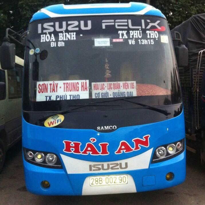 Xe khách Hải An tuyến Hòa Bình đi Phú Thọ