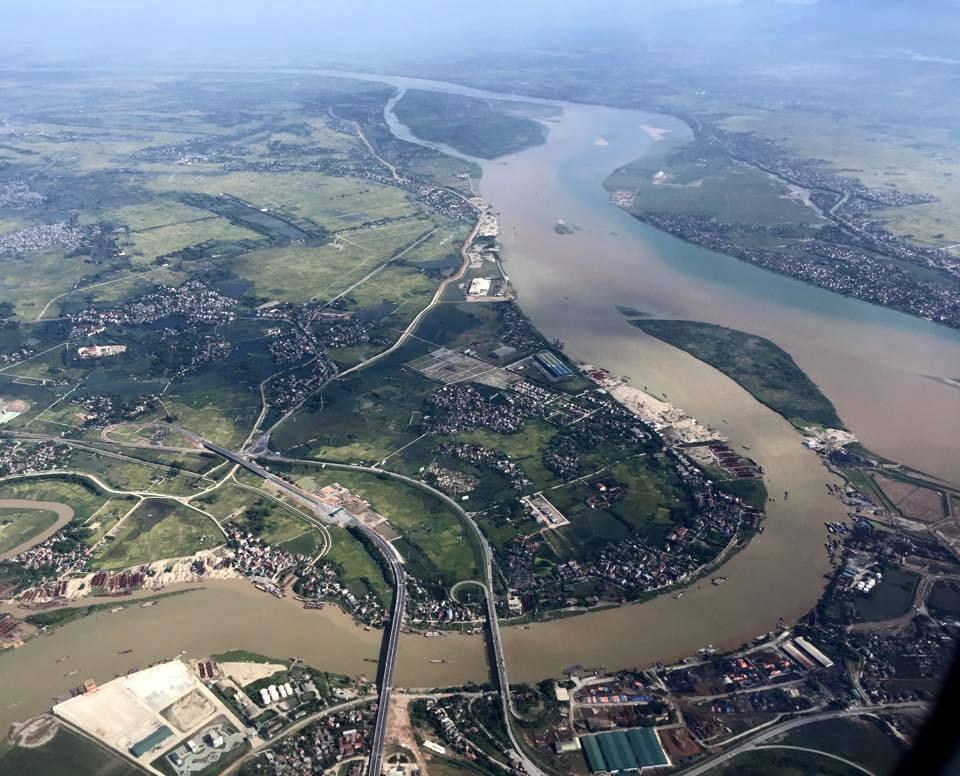 Ngã 3 sông tại cầu Việt Trì