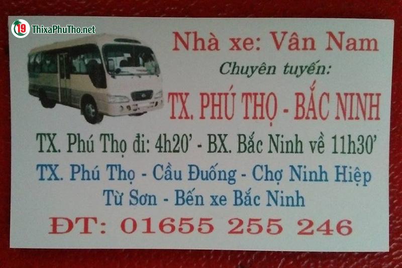 Xe khách Vân Nam - Bắc Ninh đi Phú Thọ