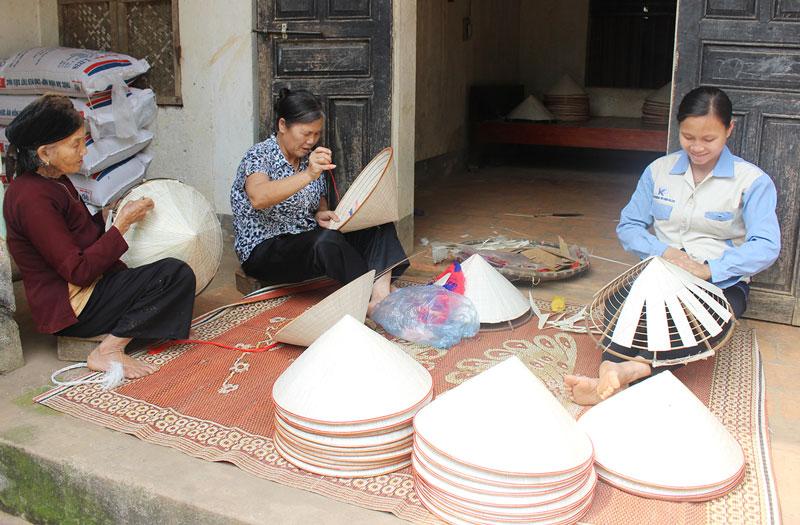 Làng nghề nón lá Gia Thanh, Phù Ninh, Phú Thọ