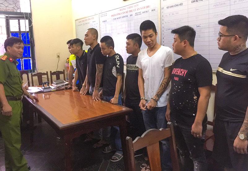 Khởi tố nhóm đối tượng đánh nhau tại thị xã Phú Thọ