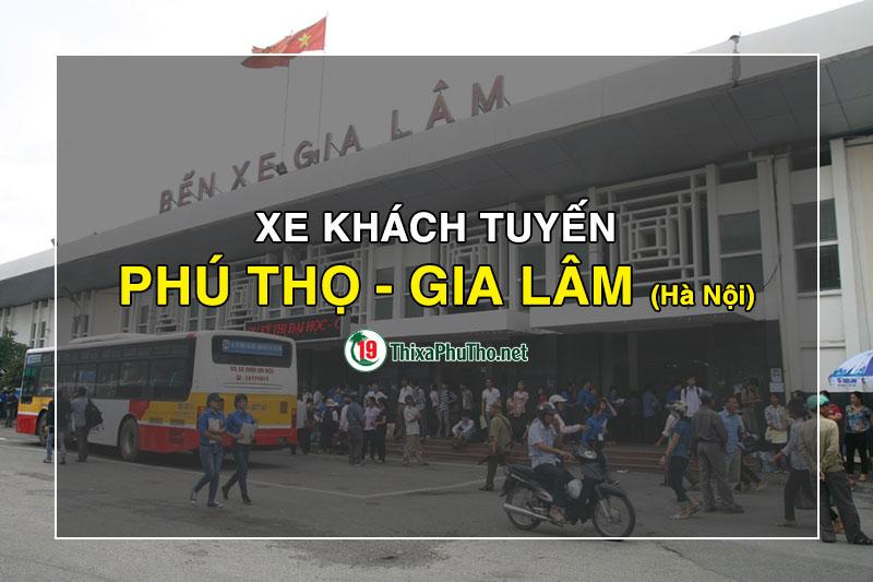 Xe khách Phú Thọ đi Gia Lâm, Hà Nội
