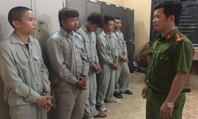 Nhóm cướp ở Phú Thọ