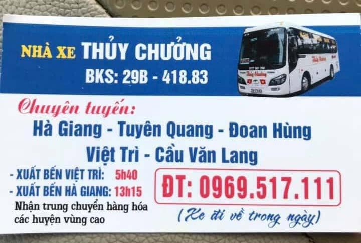 Nhà xe Thủy Chưởng (Hà Giang - Việt Trì)