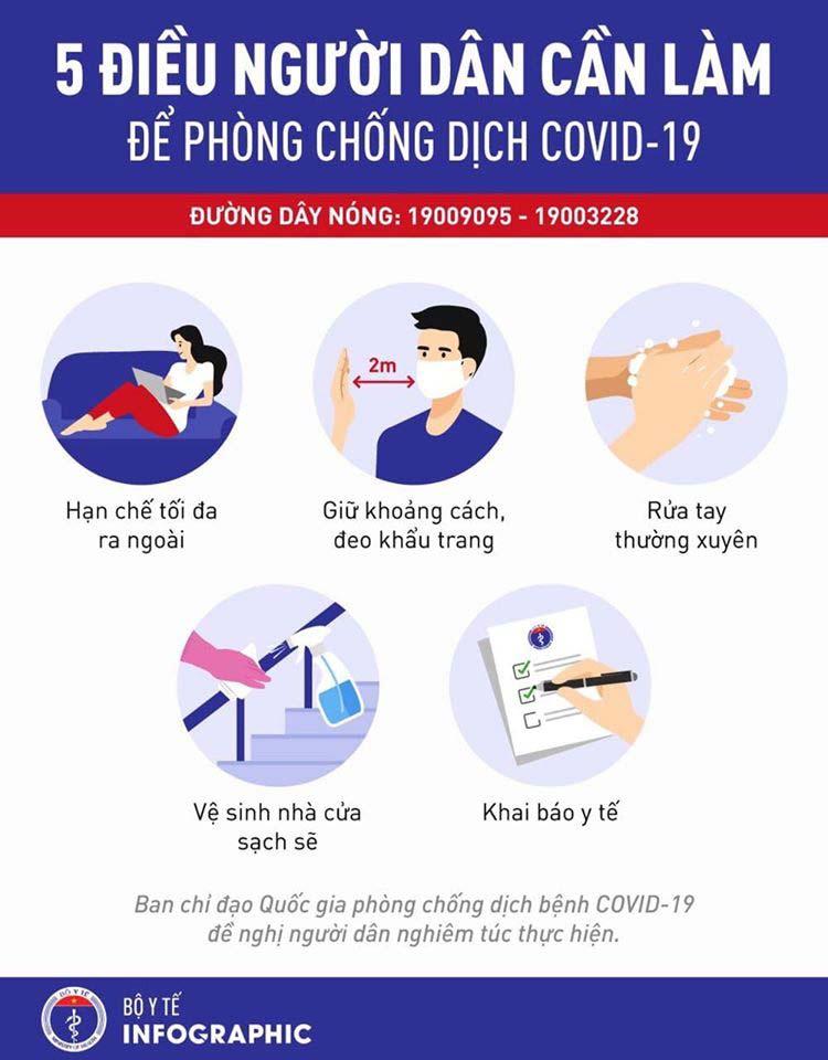 5 điều cần làm để phòng chống Covid-19