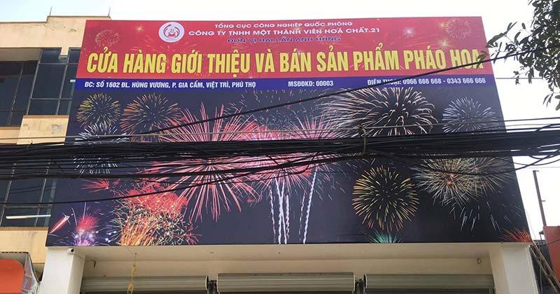 Địa chỉ mua pháo hoa không tiếng nổ ở Việt Trì, Phú Thọ
