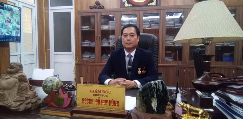 Giám đốc BV Tâm thần Phú Thọ Đỗ Huy Hùng là 1 trong 6 Thầy thuốc ưu tú được vinh danh lần này.