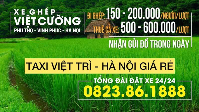 Xe ghép Việt Trì Hà Nội giá rẻ chất lượng tốt nhất