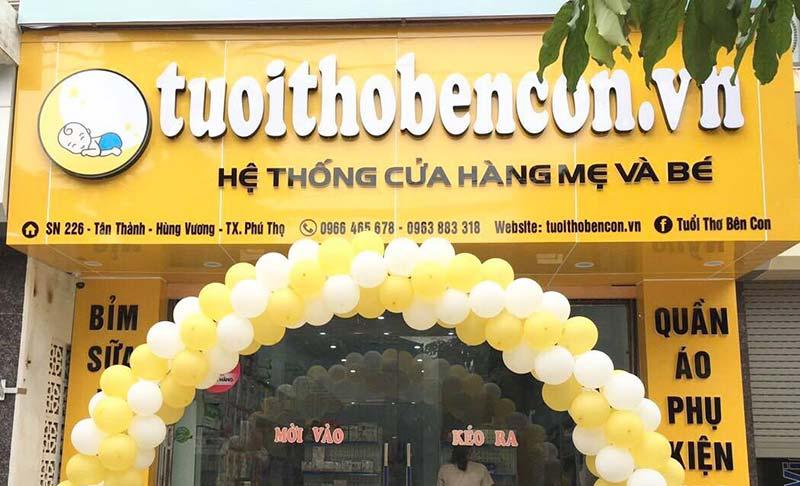 Cửa hàng mẹ & bé Tuổi Thơ Bên Con ở thị xã Phú Thọ